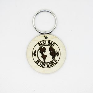 Best Dad in the World Circle Keychain