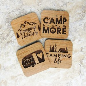 Camp Therapy Camp More Happy Life Coaster Set
