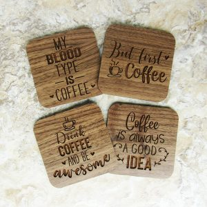 But First Coffee Blood Type Awesome Coasters