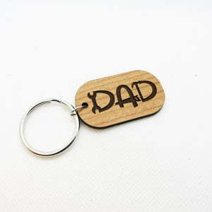 Dad Tools Rounded Rectangle Keychain