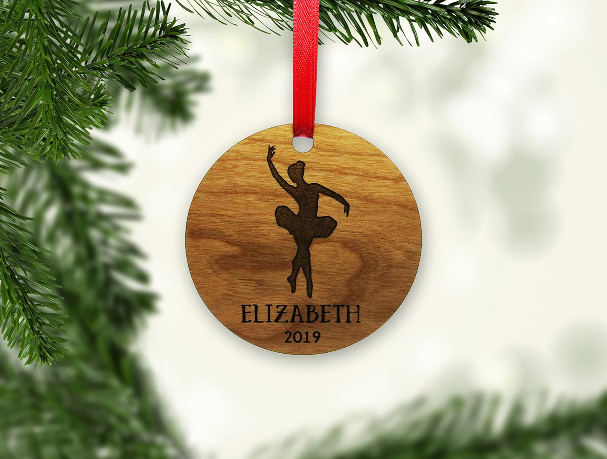 Dancer Name Year 3 in Circle Ornament Stock 1 JSD