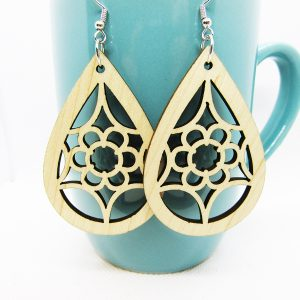 Teardrop Blooming Flower Earrings