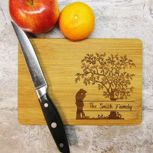Family Tree Last Name Cutting Board