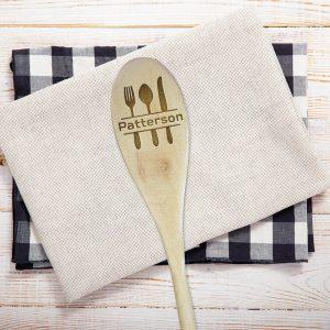 Fork Spoon Knife Last Name Wooden Spoon