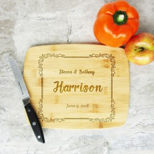 Full Name Last Date Decorative Frame Cutting Board