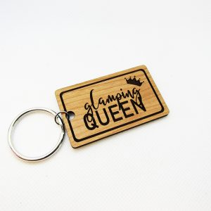Glamping Queen Crown Keychain