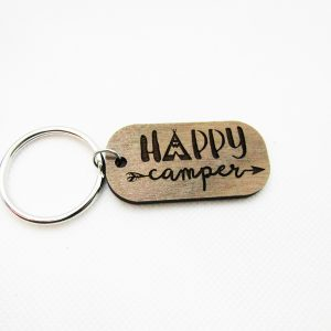 Happy Camper Tepee Keychain