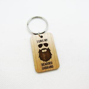 I Love My Bearded Daddy Keychain
