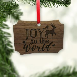 Joy To The World Reindeer Stars Ornament