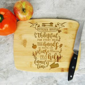 Kitchen Rules Be Thankful Cutting Board