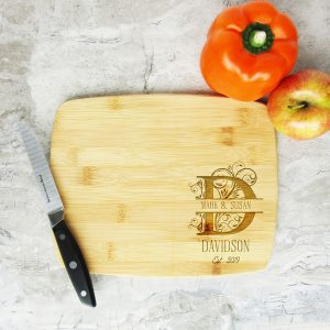 Letter Monogrammed Names Est Cutting Board