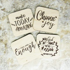Make Today Amazing Choose Joy Your Are Enough Coasters