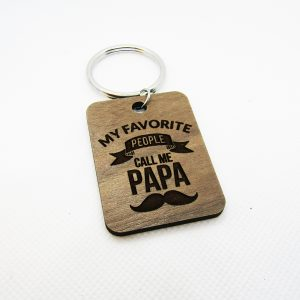 My Favorite People Call Me Papa Keychain