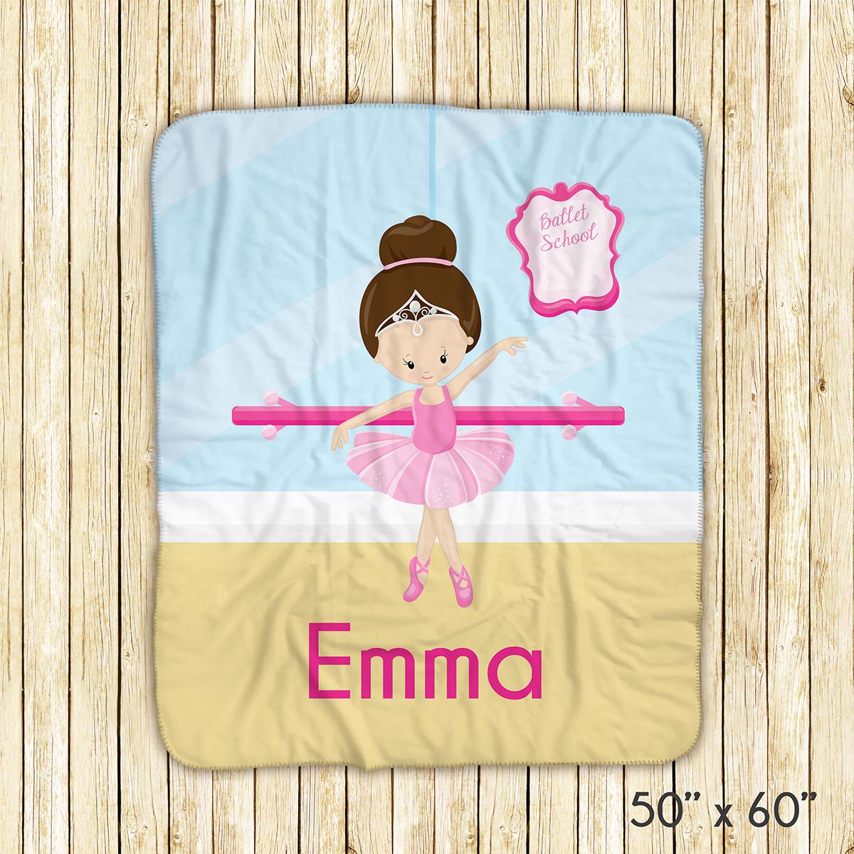 Ballet Class Ballerina Crown Blanket