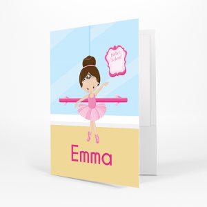 Ballet Class Ballerina Crown Folder