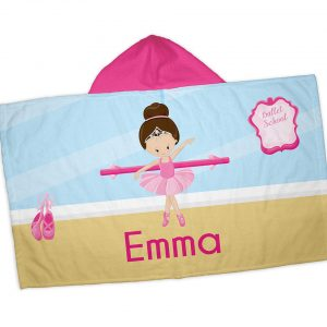 Ballet Class Ballerina Crown Hooded Towel