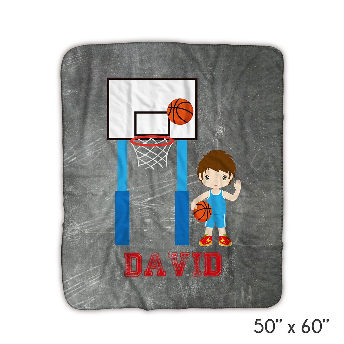 Basketball Boy Jersey Blanket