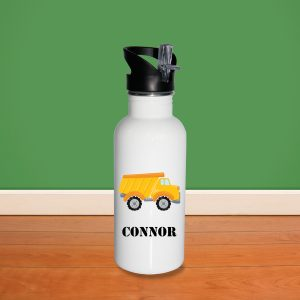 Construction Truck Vehicle Water Bottle
