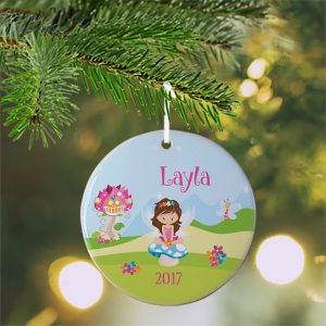 Fairy Girl Flower House Ceramic Ornament