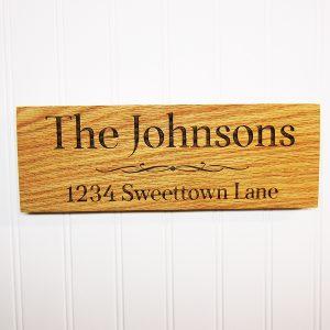 Family Name Divider Address Wooden Sign