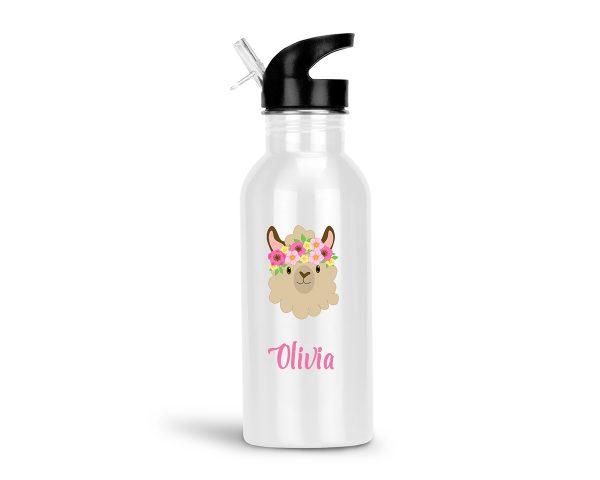 llama-funny-face-water-bottle