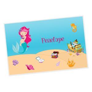 Mermaid Sea Floor Shells Placemat