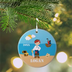 Pirate Boy Sea Island Ceramic Ornament