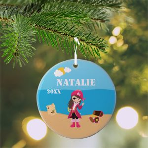 Pirate Girl Sea Island Ceramic Ornament