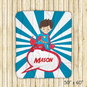 Superhero Boy Red Cape Blanket