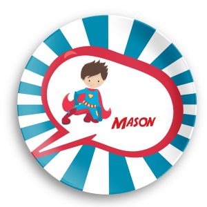 Superhero Boy Red Cape Sunray Plate