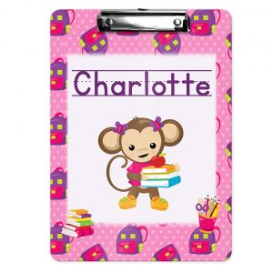 monkey-school-girl-clipboard