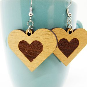 Heart Engraved Heart Earrings