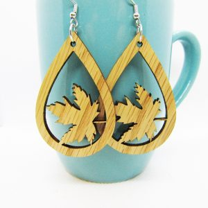 Teardrop Tree Leaf Earrings