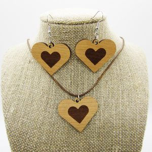 Heart Engraved Heart Jewelry Gift Set