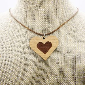 Heart Engraved Heart Necklace