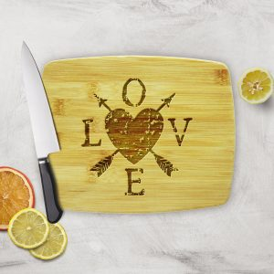 LOVE Heart Arrows Cutting Board