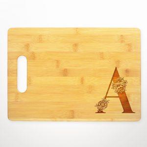 flower-letter-monogrammed-letter-cutting-board