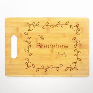 last-name-family-leafy-frame-cutting-board