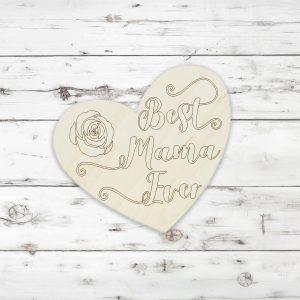 Best Mama Ever Rose Heart Kids Craft Kit