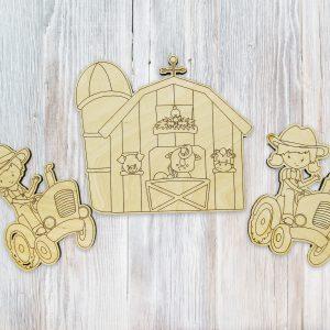 Happy Farm Barn Boy Girl Tractor Kids Craft Kit