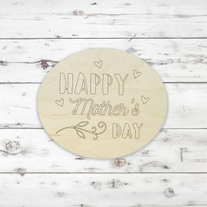Happy Mother's Day Hearts Oval Kids Craft Kit