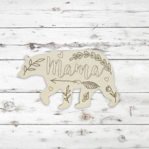 Mama Bear Heart Leaves Flowers Kids Craft Kit