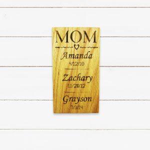 Mom Divider Children Birth Dates Sign