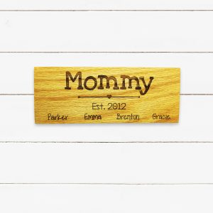 Mommy Est Year Kids Names Sign
