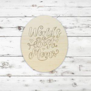 Worlds Best Mom Heart Oval Kids Craft Kit