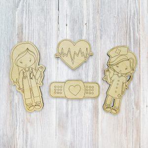 Hospital Girl Doctor and Nurse Kids Craft Kit