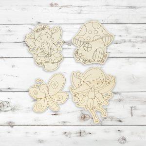 Fairy Girl Mushroom Butterfly Kids Craft Kit