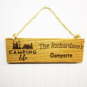 Camping Life Family Name Campsite Sign