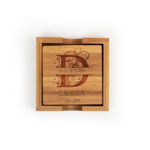 persoanlized-gifts-letter-monogram-name-bamboo-coasters