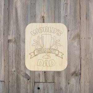Worlds Greatest Dad Trophy Kids Craft Kit